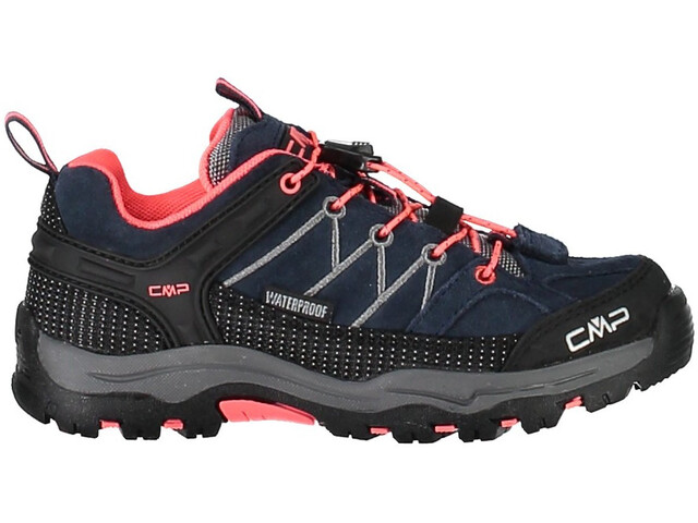 CMP Campagnolo Kids Rigel Low WP Trekking Shoes Antracite-Red Fluo